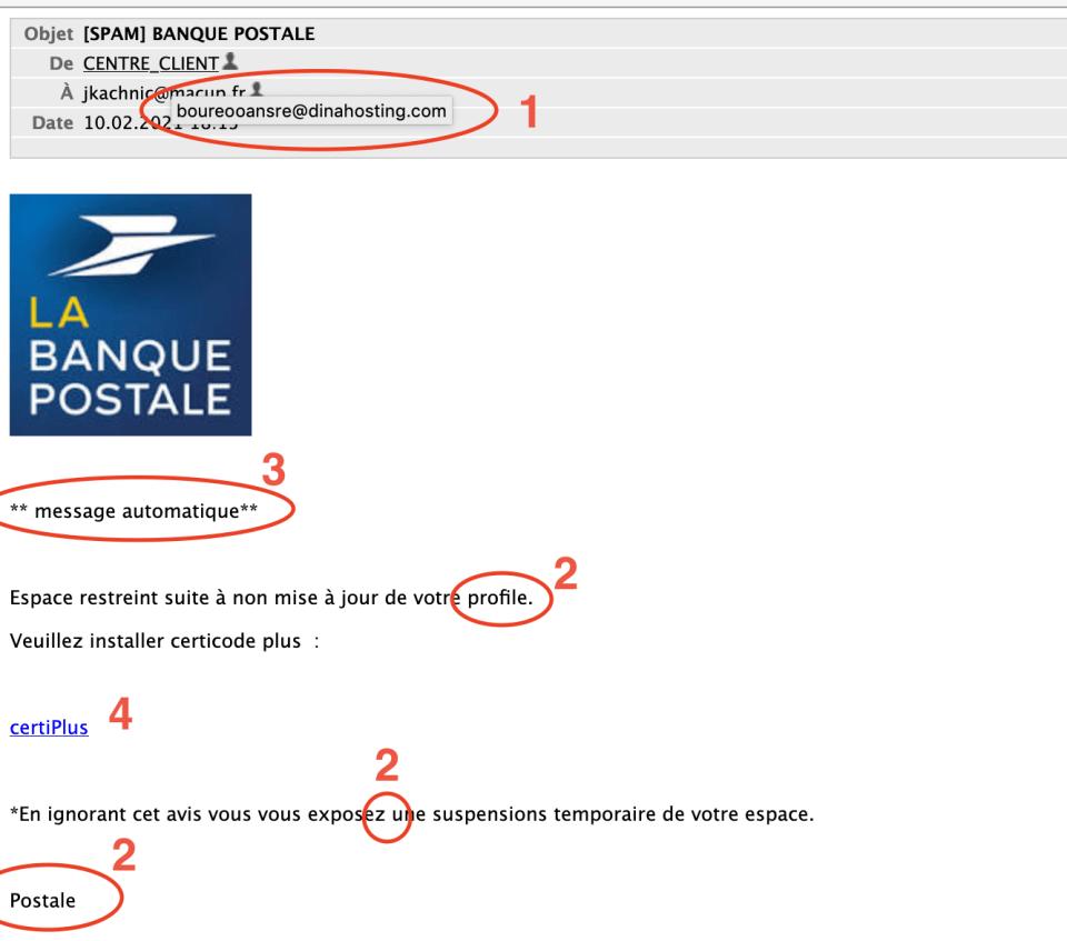 Exemple Arnaques Banque Postale