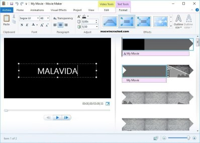Windows Movie Maker 2019