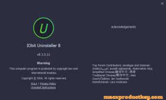 iobit uninstaller 8 licence key