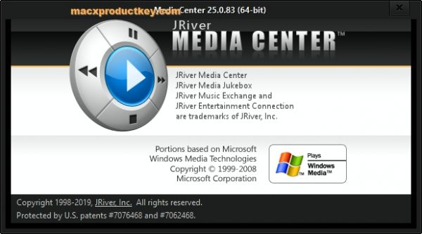 JRiver Media Center 25.0.83 Crack + Serial Key 2019 Download [Updated]