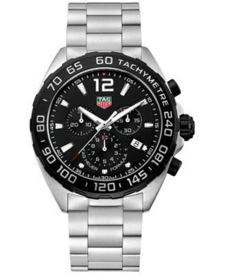 TAG Heuer Mens Swiss Chronograph Formula 1 Stainless