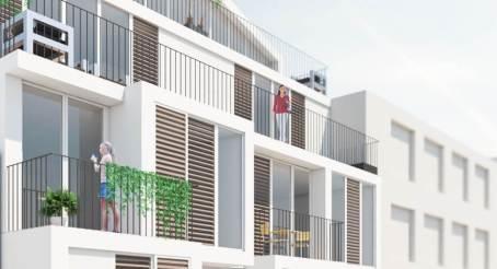 Impressie balkons binnenplaats