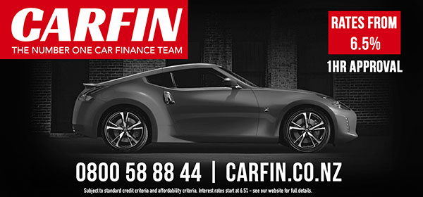 C3 Board creative. Carfin, the number one car finance team. Rates from 6.5%, 1hour approval. 0800588844. carfin.co.nz
