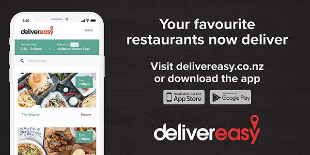 Hobson Board Creative. Your favourite restaurants now deliver. Visit delivereasy.co.nz or download the app. Deliver easy.