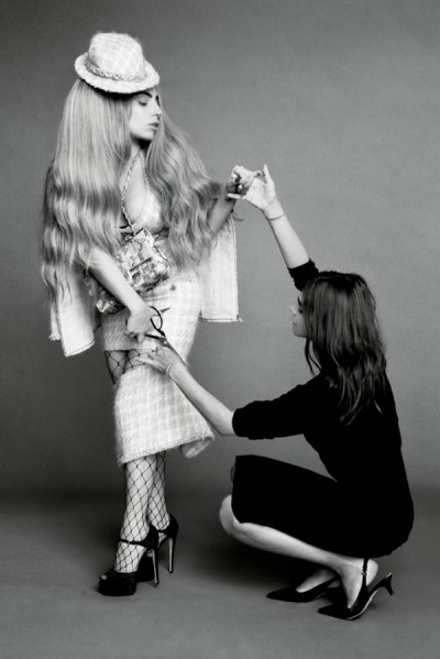 Lady-Gaga-Harpers-Bazaar-September-2014-cover-issue-Asia-dog-black-white