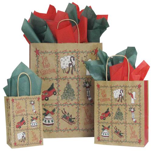 closeout-folk-art-christmas-shopping-bags