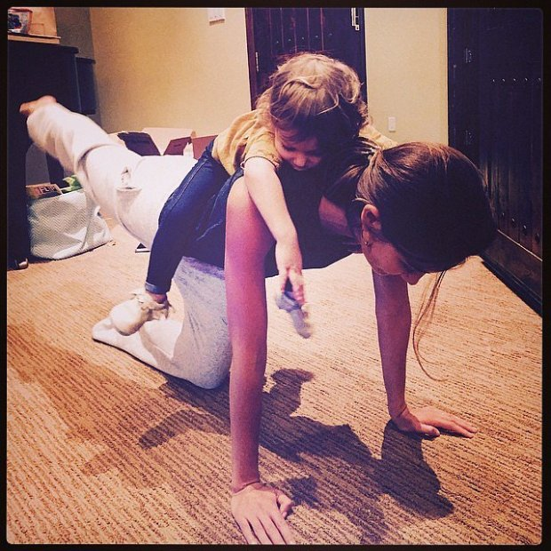 Lily-shared-photo-Dixie-her-back-while-doing-yoga