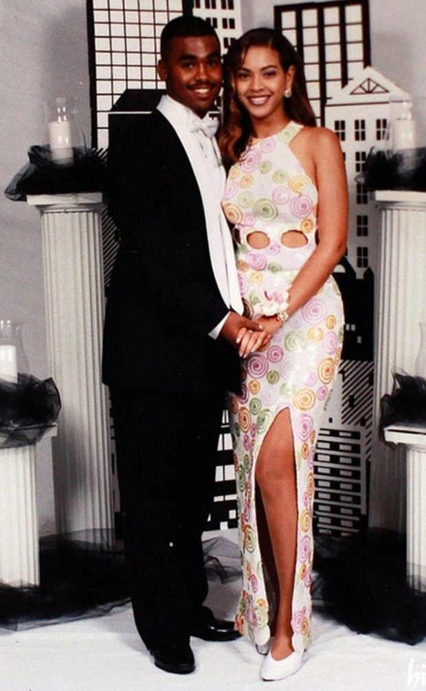Lyndell Locke, 1st boyfriend of Beyonce Pictured Lyndell and Beyonce at their prom in 1997 Image from internet - for Nikki