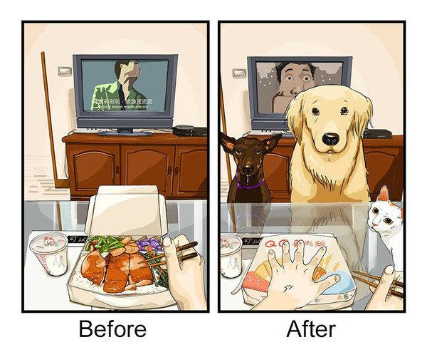 Το δείπνο μετά τη δουλειά.