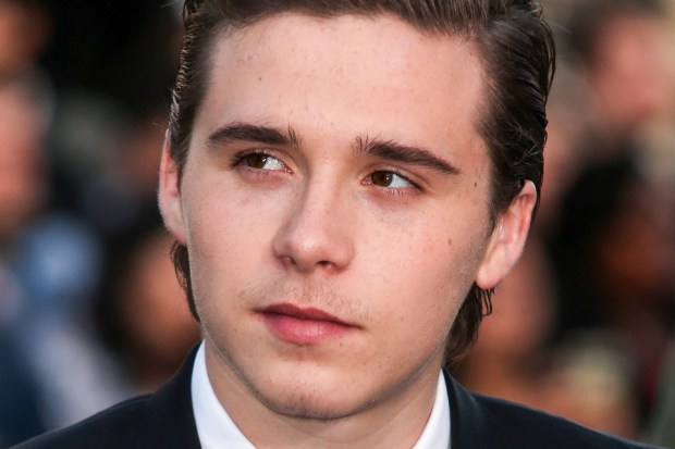 Brooklyn Beckham arrives at the Los Angeles Premiere Of Universal Pictures' 'Neighbors 2: Sorority Rising' held at the Regency Village Theatre in Westwood, Los Angeles, California, United States. Pictured: Brooklyn Beckham Ref: SPL1284539 160516 Picture by: Image Press / Splash News Splash News and Pictures Los Angeles: 310-821-2666 New York: 212-619-2666 London: 870-934-2666 photodesk@splashnews.com