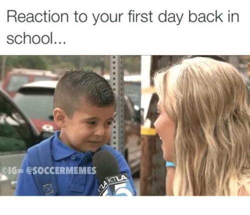 πρώτη εβδομάδα του σχολείου