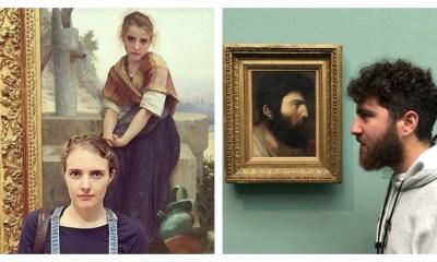 σωσίες τους σε πίνακες μουσείων