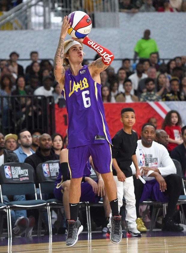 Justin Bieber στο All-Star Celebrity Game