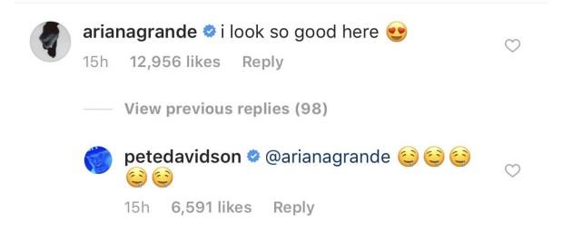 Ariana Grande και Pete Davidson στο Instagram