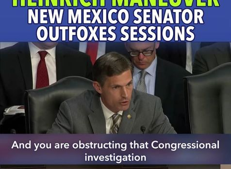 Senator Heinrich outfoxes the fox during his …