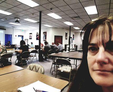 I'm at the Socorro County School Board retreat …