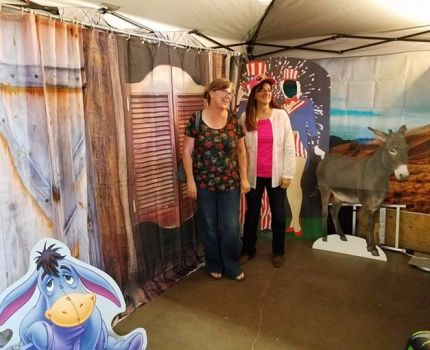 Working the Democrats booth at the Socorro County …