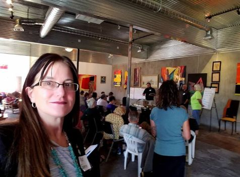 I spent the morning with New Mexico Indivisible …