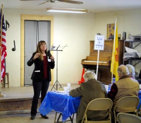 Mad Hildebrandt speaking in Pie Town, Catron County, NM