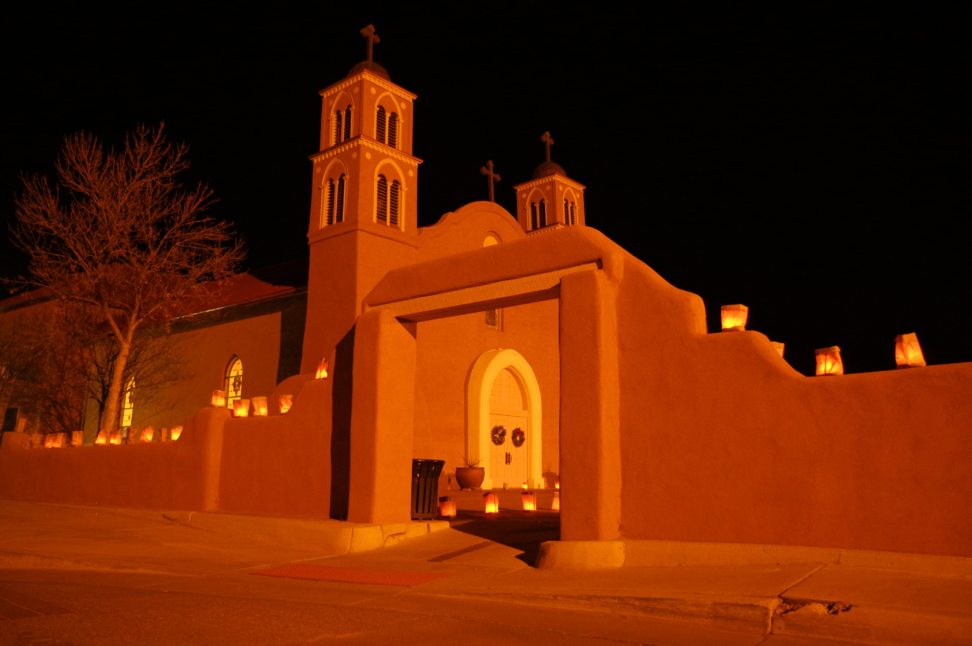 Historic San Miguel Mission in Socorro, NM. Mad Hildebrandt and her family are parishioners of this Mission Church