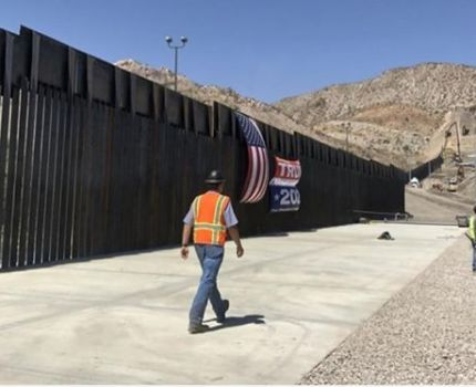 This privately funded section of border wall, on …
