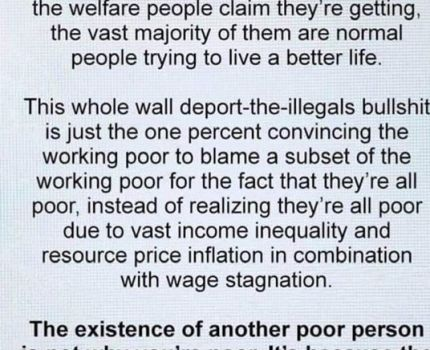 Poor people aren't the reason we're the working …