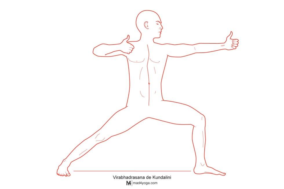 Virabhadrasana Kundalini postura del arquero k