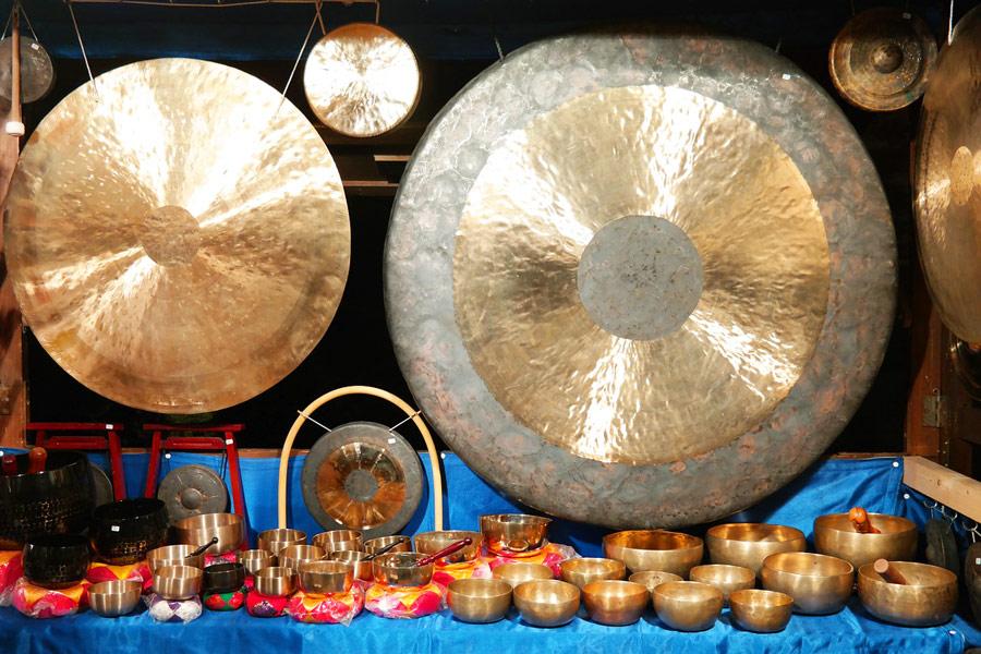 El gong, instrumento de percusión
