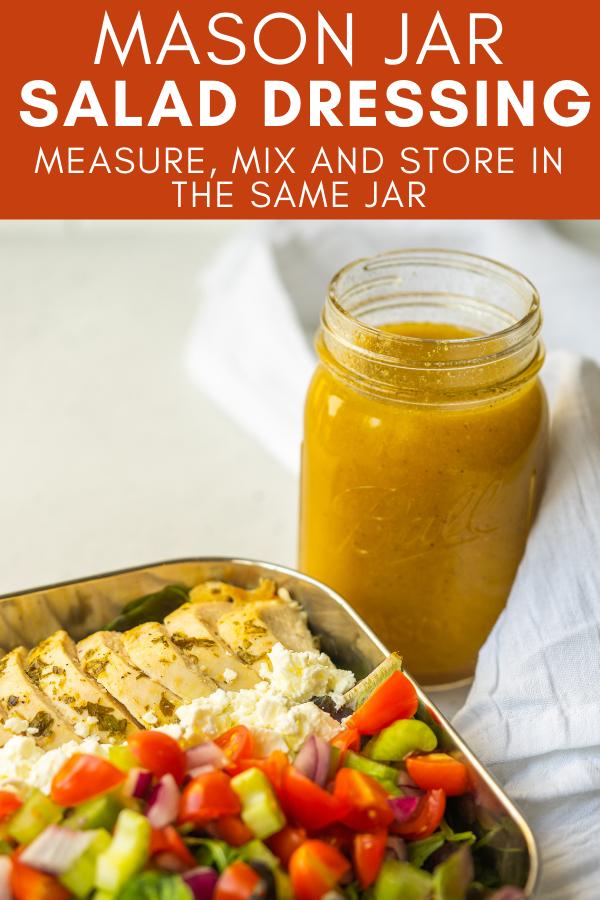 Image for pinning Mason Jar Salad Dressing recipe on Pinterest