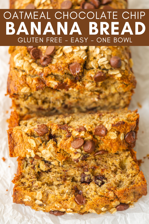 pinterest image for oatmeal chocolate chip banana bread