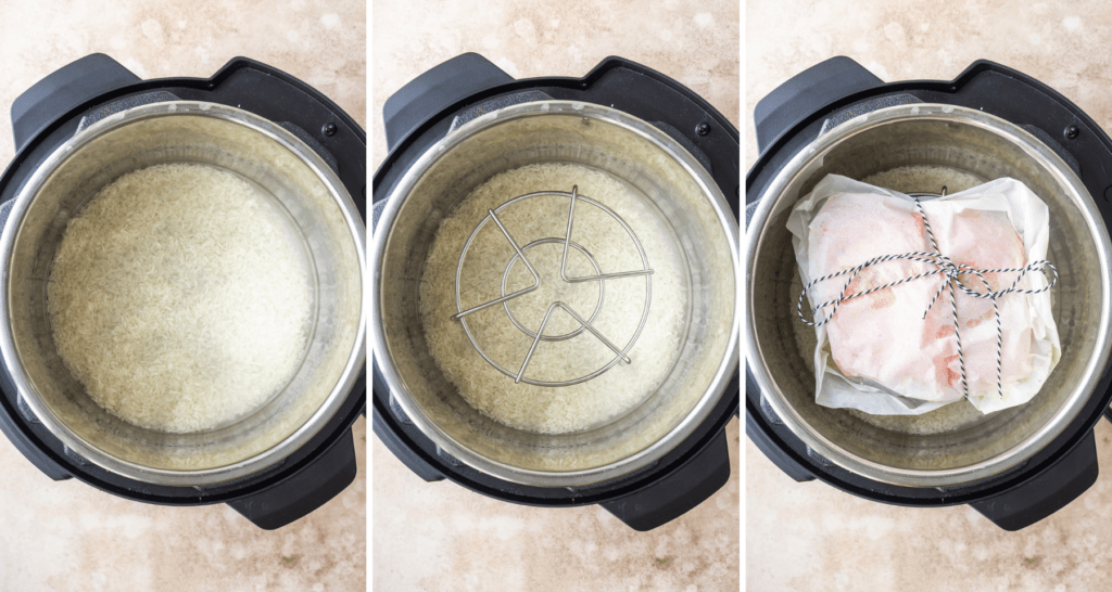 step by step instructions for assembling instant pot salmon