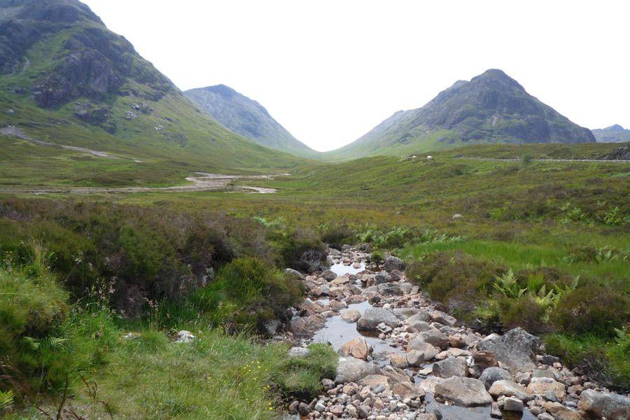 Valle de Glencoe en las Highlands de Escocia