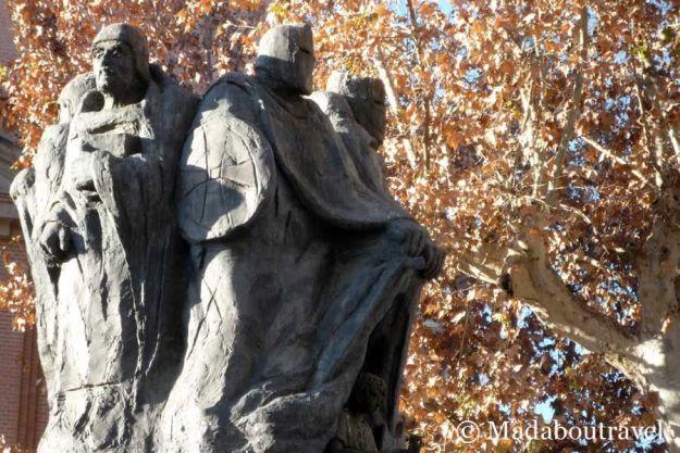 Monumento al rey Jaume I en Monzón