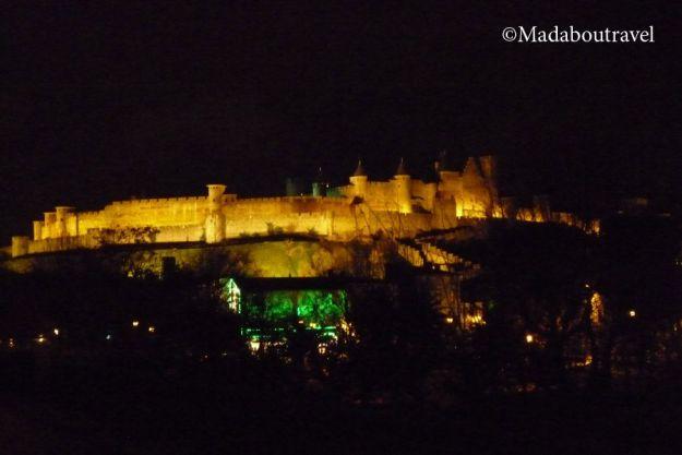 Carcassonne de noche