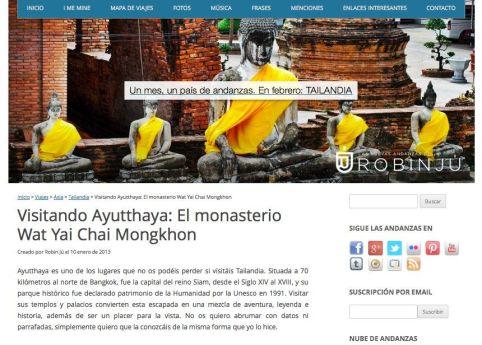 Blog de viajes Las Nuevas Andanzas de Robin Jú