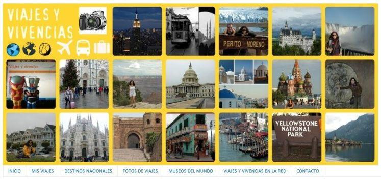 Captura de pantalla del blog Calíope Viajes y Vivencias