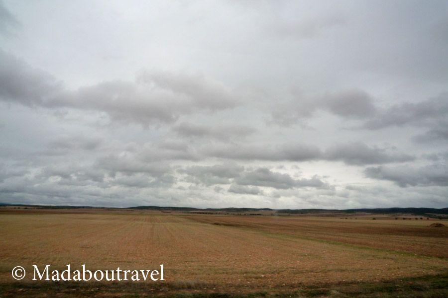 Paisaje desde Albacete desde el tren