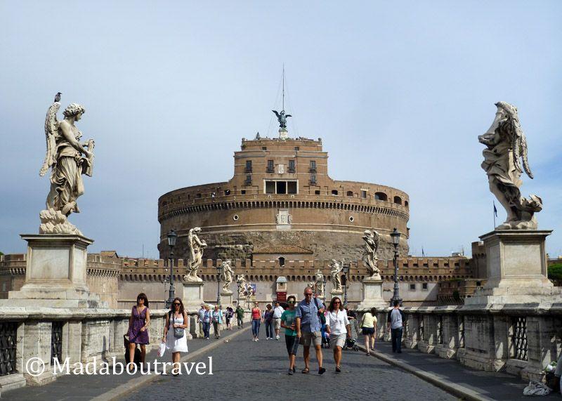 El Castillo de Sant'Angelo visto desde el puente Sant'Angelo