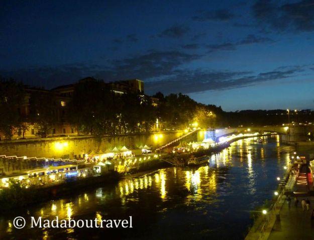Anochecer sobre el río Tíber