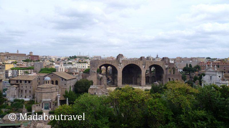 Vista del Foro Romano desde el Palatino, Roma