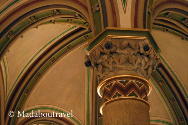 Detalle del techo del Palais Ferstel, sede del Café Central de Viena