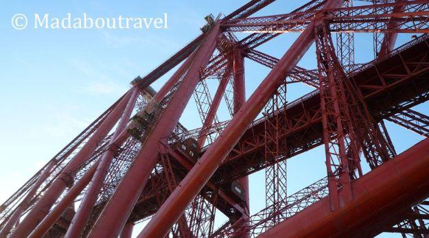 Detalle del puente del ferrocarril sobre el río Forth