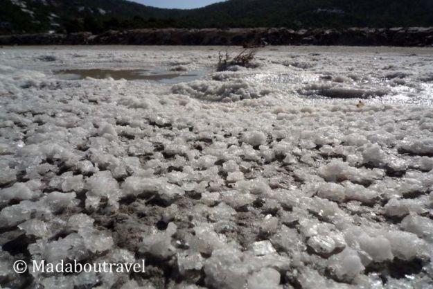 Sal en el Parque Natural de Ses Salines