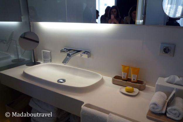 Baño de una suite del hotel Mandarin Oriental de Barcelona