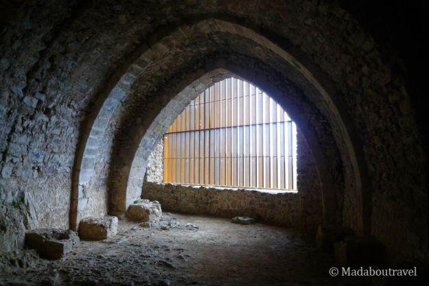Sala gótica en el castillo de Montsoriu