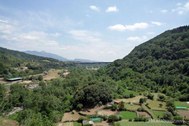 Vistas desde el mirador de Castellfollit de la Roca