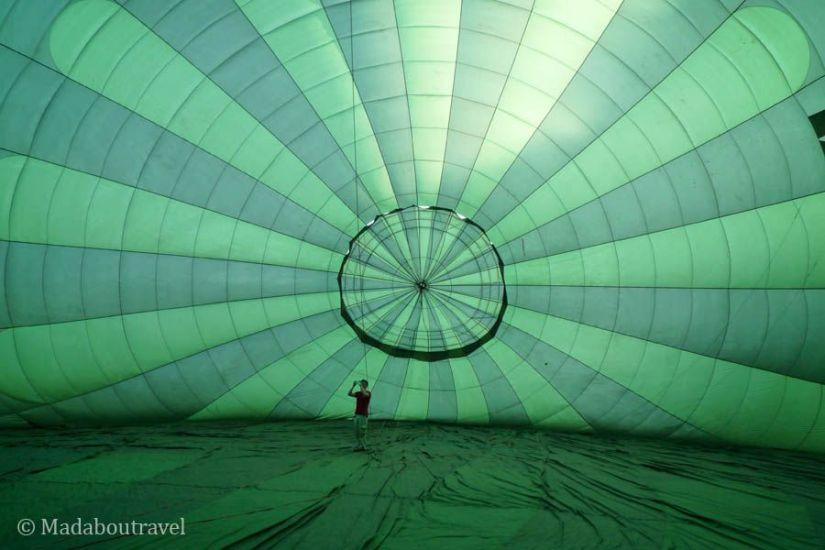 Dentro del globo