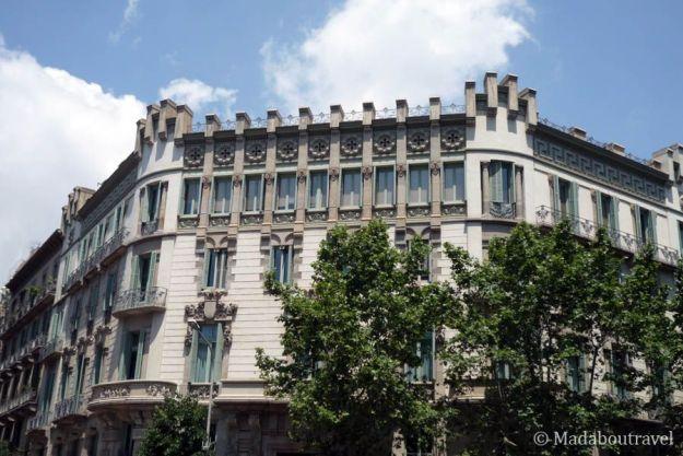 Edificio modernista en Barcelona