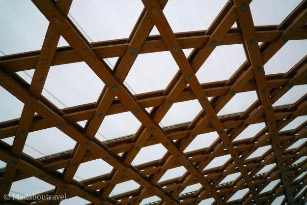Textura de la cubierta del Centro Pompidou de Metz