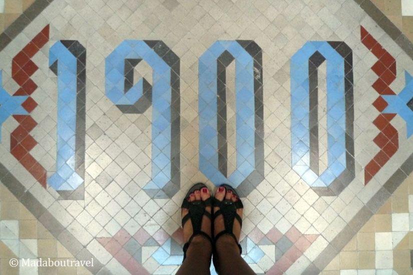 Mosaico modernista en el Hotel España